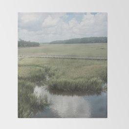 Peaceful Marshy Meadow Throw Blanket