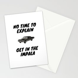Supernatural - Get In The Impala Stationery Cards