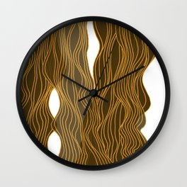 Parallel Lines No.: 03. - Brown, Symmetrical Wall Clock