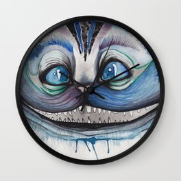 Cheshire Cat Grin - Alice in Wonderland Wall Clock