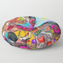 Super Retro Roller Skate Night Floor Pillow