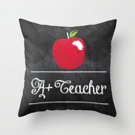 A+ Teacher Throw Pillow