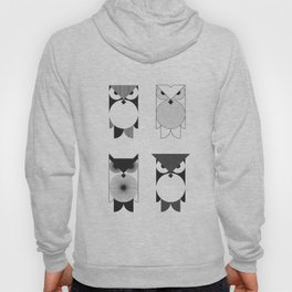 animal PICTOGRAMS vol. 6 - OWLS Hoody