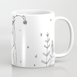 Snowy Christmas Owl Illustration Coffee Mug