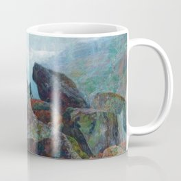 Weather chirping on cyclone rock landscape painting by Emilie Mediz-Pelikan Coffee Mug