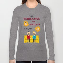 The Terrance and Phillip Show Poster on T-shirt Long Sleeve T-shirt