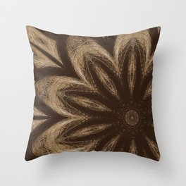 Sequential Baseline Mandala 14 Throw Pillow