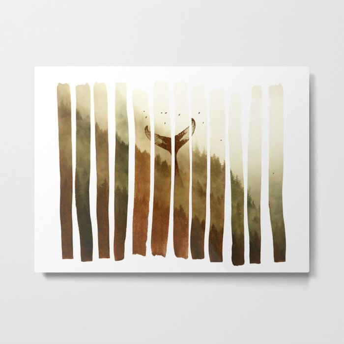Tail Fin Metal Print