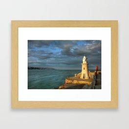 Folkestone Lighthouse Framed Art Print