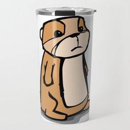 Pensive Gopher Travel Mug