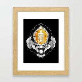KALACHAKRA : Wheel of Time Framed Art Print