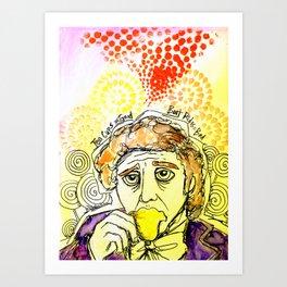Willy Wonka Drinks His Tea - Gene Wilder  Art Print
