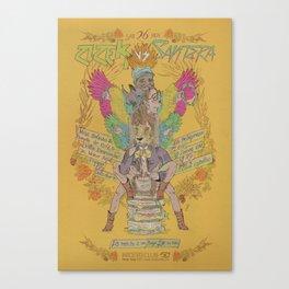 Zizek VS Santera Canvas Print