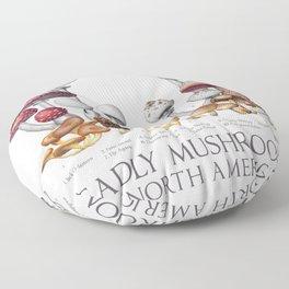 Deadly Mushrooms of North America Floor Pillow