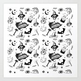 Magic symbols Art Print