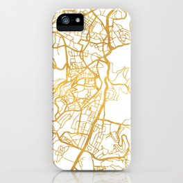 JERUSALEM ISRAEL PALESTINE CITY STREET MAP ART iPhone Case