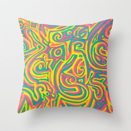 swirvled Throw Pillow