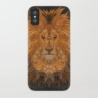 the lion king iPhone & iPod Cases featuring King Lion by ArtLovePassion