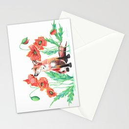 Paws & Smell the Poppies Stationery Cards