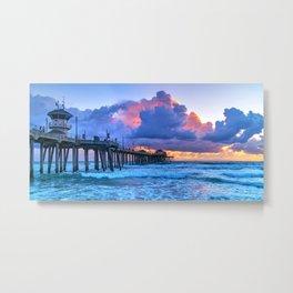 Glowing Clouds at Sunset Metal Print