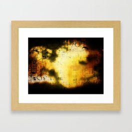 What's with a title Framed Art Print