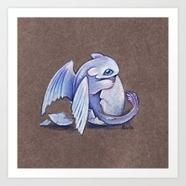 Light fury hatchling Art Print