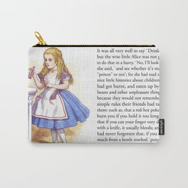 Alice and the Drink Carry-All Pouch