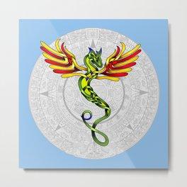 Quetzalcoatl Knot Metal Print
