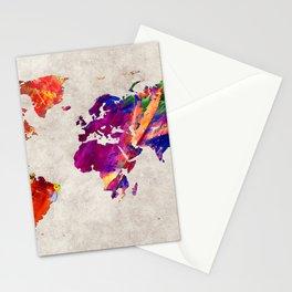 World Map 50 Stationery Cards