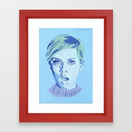 Blue Twiggy Framed Art Print
