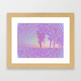 Beach Pink Framed Art Print