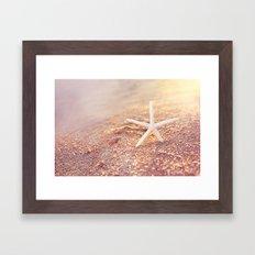 golden starfish Framed Art Print
