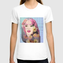 Are my pink eyebrows bothering you?  T-shirt