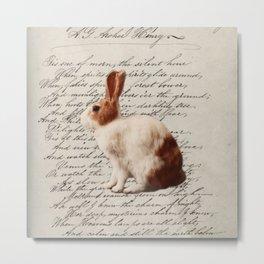 magical fairy woodland nursery easter bunny wild hare rabbit Metal Print