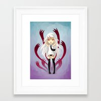 anxiety Framed Art Prints featuring Anxiety by Freeminds