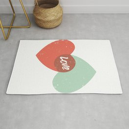 Two lovely hearts Rug
