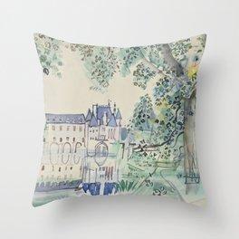 Raoul Dufy Le Chateau de Chenonceaux Throw Pillow