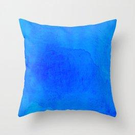 DARK BLUE WATERCOLOR BACKGROUND  Throw Pillow