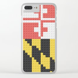 Maryland State Flag Building Block Design Clear iPhone Case