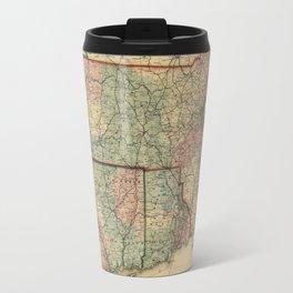 Vintage Massachusetts Railroad Map (1879) Travel Mug