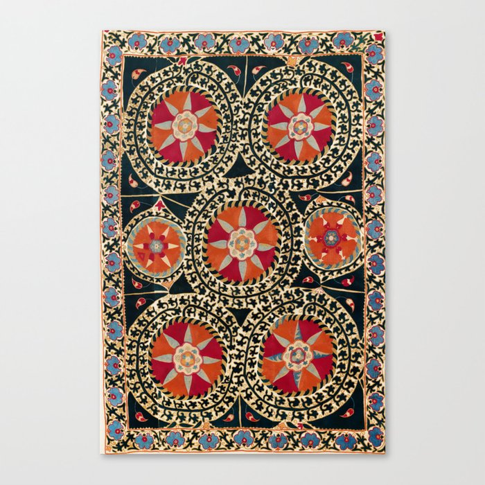 Katti Kurgan Suzani Uzbekistan Embroidery Print Leinwanddruck