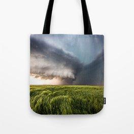 Leoti's Masterpiece - Incredible Storm in Western Kansas Tote Bag