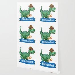 Dinosaur T-Rex Oktoberfest Funny Wallpaper