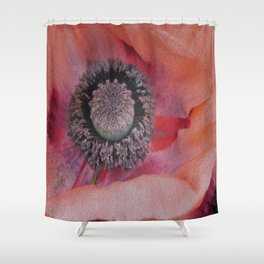 Poppy Abstract Shower Curtain