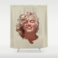 marilyn Shower Curtains featuring marilyn by gazonula