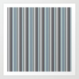 Adelaide Modern Parisienne Stripes in Mint - Art Print