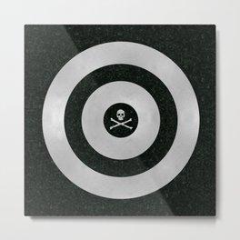 Silver Target Metal Print
