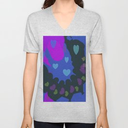 Hearts Galore Unisex V-Neck