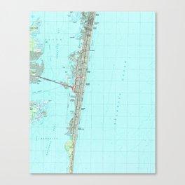 Seaside Park & NJ Shore Map (1989) Canvas Print