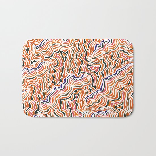 red topography Bath Mat